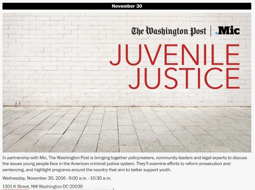 Photo of juvenile Justice article in Washington Post