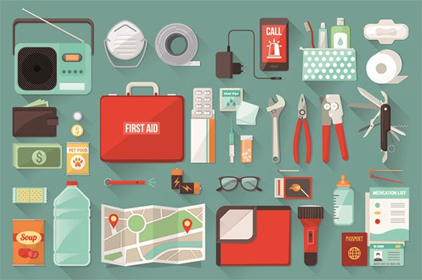 emergency preparedness kit with emergency supplies